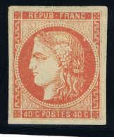 France  Maury/Yvert 48 D, Avec Certificat Scheller Paris Neuf Sans Gomme . Émission De Bordeaux. - 1870 Emissione Di Bordeaux