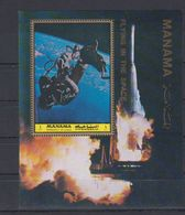P73. MNH Manama - Space - Single Stamps - Flying In Space - Space