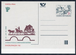 CZECH REPUBLIC 1995 3 Kc.postcard Sindelfingen '95 Unused.  Michel P7-A6 - Postal Stationery