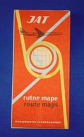 JAT 1964 JUGOSLOVENSKI AEROTRANSPORT ROUTE MAPS Excellent - Timetables