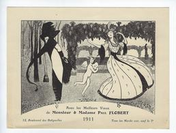Publicité Faire Part Voeux 1911 Paul Flobert 12 Boulevard Des Batignolles Paris - Visiting Cards