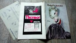 Modes Et Travaux Janv 1936 N°399 Mode Chanel Mourgues Patron Couture Broderie   Vintage - Fashion