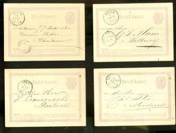 100 X HANDGESCHREVEN BRIEFKAART Uit 1870-75 * ALLEMAAL GELOPEN  VOORDRUK NVPH 18 * LOT *   (11.135) - Ganzsachen