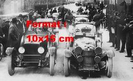 Reproduction D'une Photographie De La Ligne De Départ De Mille Miglia De 1928 - Reproducciones
