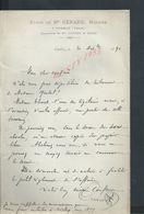 LETTRE DE 1891 ETUDE M GÉRARD NOTAIRE À CHABLIS YONNE : - Manuscripts