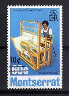 Montserrat 1974, Overprint, University, Weaving - Montserrat