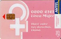 TARJETA TELEFONICA DE URUGUAY. 181a (LINEA MUJER) (262) - Uruguay