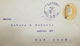 A) 1914 (12 JUN) SARCHI - SAN JOSE (13 JUNE), 5C ORANGE STAT ENV, FINE SMALL VILLAGE, USAGE FROM ALAJUELA. - Costa Rica