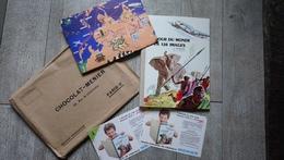 Chocolat Menier Le Tour Du Monde En 120 Images Jacqueline Neuf Avec Grande Carte Buvards Enfantina - Livres, BD, Revues