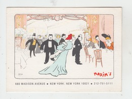 NEW YORK CITY / RESTAURANT CHEZ MAXIM'S - 680 MADISON AVENUE - Cafés, Hôtels & Restaurants