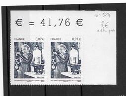 Adhésif   N°524 En Paire - France