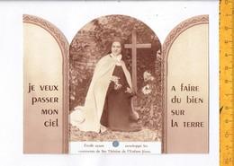 RELIQUE - RELIKWIE - ETOFFEZYZNT ENVELOPPE LES OSSEMENT DE STE THERESE DE L ENFANR JESUS - Religión & Esoterismo