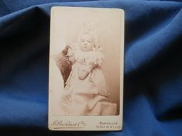 CDV Photo Guchens à Montpellier - Bébé Poupon à La Charlotte Vers 1890 L378 - Photographs