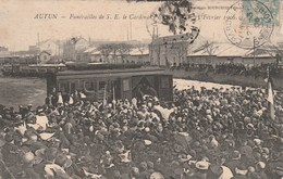 AUTUN - FUNÉRAILLES DE S. E. LE CARDINAL PERRAUD, LE 15 FÉVRIER 1906 332G - Autun