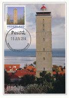 D33915 CARTE MAXIMUM CARD 2014 NETHERLANDS - LIGHTHOUSE PHARE TERSCHELLING BRANDARIS CP ORIGINAL - Lighthouses