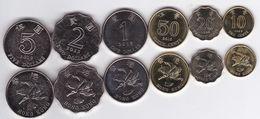 Hong Kong - Set 6 Coins 10 20 50 Cents 1 2 5 Dollars 1998 - 2015 UNC Ukr-OP - Hong Kong