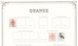 ORANGE Colonie Anglaise Timbre Sur Feuille D Album - État Libre D'Orange (1868-1909)