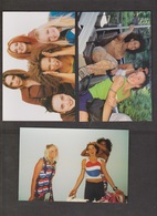 SPICE GIRLS - 9 Cards With 2 Or 3 Together - Unused - Writing On Backs - Musik Und Musikanten