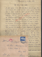 MILITARIA CORRESPONDANCE MILITAIRE SUR Let TIMBRE ALLEMAND ECRITE DE OBRRAHMEDE SOLDAT HANDENPUT JULES POUR FIVES LILLE - 1939-45
