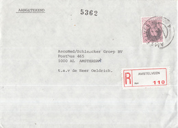 Nederland - Aangetekend/Recommandé Brief Vertrek Amstelveen - Aantekenstrookje Amstelveen 110 - Poststempels/ Marcofilie