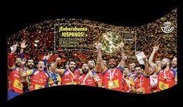 Spain 2018 Mih. 5244 (Bl.306) Spain National Team - European Handball Champion MNH ** - 1931-Tegenwoordig: 2de Rep. - ...Juan Carlos I