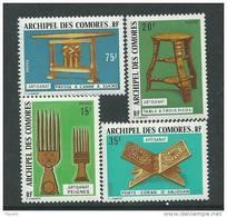 Comores N° 91 / 94 XX  Artisanat, La Série Des 4 Valeurs Sans Charnière TB - Komoren (1950-1975)