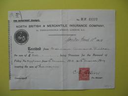 Lettre  Perforé NB&M  North British & Mercantile  Perfin Post Office London    1918 - Groot-Brittannië