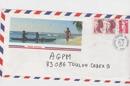 POLYNESIE FRANCAISE 1991 LETTRE POUR TOULON - Brieven En Documenten