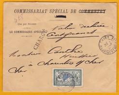1907 Lettre Chargée 100 Francs De Briey Vers Charenton - Merson 45 C YT 143 Seul - Initiales Du Cachet De Cire HF - Marcofilie (Brieven)
