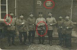 Deutsche Soldaten - Charleroi -   Allemande  Photo Carte -guerre 14 -18-Landsturm Bataillion / Essen Befördert Kettwig - Oorlog 1914-18