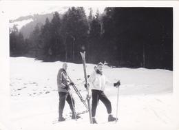 SUISSE,SCHWEIZ,SVIZZERA,SWITZERLAND,HELVETIA,SWISS ,PHOTO,PHOGRAPHIE,DAVOS EN 1950,GRISONS,PISTE,SKIEUR - Plaatsen