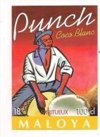 Etiquette  Punch Coco Blanc  Spiritueux Maloya ( Isautier ) - Ile De La REUNION - Thème Musique - - Rhum