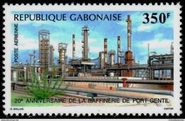 GABON 1988 PORT GENTIL OIL REFINERY MINERALS SET MNH - Gabon