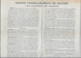 90.- BELFORT .- Société D' Embellissement De La Ville De BELFORT  Au Visteurs   ( Plan ) - Documentos Históricos