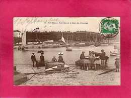 17 Charente Maritime, Fouras, Port Sud Et Le Bois Des Franches, Animée, 1924, (J. M.) - Fouras-les-Bains