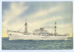 U514/ G.E.N.S. Line Dampfer Maria Terersa G.  Handelschiff  AK 1950 Italien - Commerce