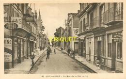 14 Luc Sur Mer, La Rue De La Mer, Beaux Commerces, Affiche LU.... - Luc Sur Mer