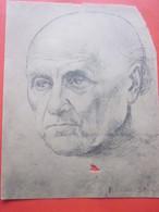 Art Dessin De RICHARD STRAUSS MUSICIEN-MUSIQUE Exécuté Au Fusain Crayon Sur Carton Publicitaire Médical(voir Verso) - Dessins
