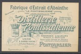 Carte De Visite - DISTILERIE  PONTISSALIENNE - Absinthe - Visiting Cards