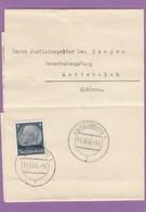 ZEITUNGSBANDSTREIFEN AN EINEM JUSTIZINSPEKTOR IN DER GAUSCHULUNGSBURG IN METTERNICH,1940. - 1940-1944 German Occupation