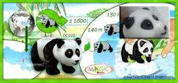 D022 Panda : Yeux Et Oreilles En Plastique Noir + Bpz - Mountables