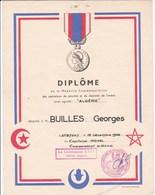Diplome Medaille Operations De Securité Et Maintien De L Ordre Algerie Guerre D Algerie - Documents