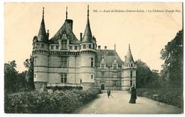 CPA 37 Indre Et Loire Azay-le-Rideau Le Château Façade Est Animé - Azay-le-Rideau