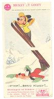 Mickey Et Goofy, Découpez Ce Timbre ( Ski, Disney    - Dans L'état ) - Vieux Papiers