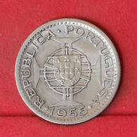ANGOLA 10 ESCUDOS 1955 - 5 GRS - 0,720 SILVER   KM# 73 - (Nº22944) - Portugal