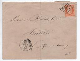 1875 - ENVELOPPE De DRAGUIGNAN (VAR) Avec GC 1349 Sur N°38 - 1849-1876: Klassik