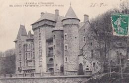 Le Cantal Pittoresque Chateau D Anteroche Pres Murat - France