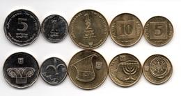 Israel - Set 5 Coins 5 10 1/2 Agorot 1 5 Sheqalim 1987 AUNC Ukr-OP - Israel