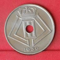 BELGIUM 25 CENTIMES 1939 -    KM# 114,1 - (Nº22945) - 1934-1945: Leopoldo III