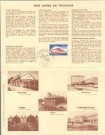 France Rep. Française 1976 Encartage - Gares De Province / Railway Station / Bahnhof / Treinstation - Trains